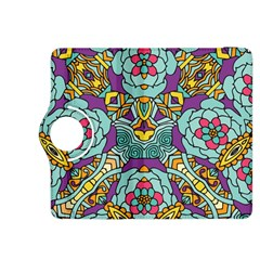 Mariager - Bold blue,purple and yellow flower design Kindle Fire HDX 8.9  Flip 360 Case by Zandiepants