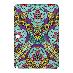 Mariager   Bold Blue,purple And Yellow Flower Design Samsung Galaxy Tab Pro 10 1 Hardshell Case by Zandiepants
