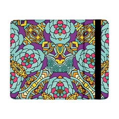 Mariager - Bold blue,purple and yellow flower design Samsung Galaxy Tab Pro 8.4  Flip Case by Zandiepants