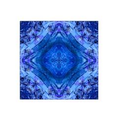 Boho Bohemian Hippie Tie Dye Cobalt Satin Bandana Scarf by CrypticFragmentsDesign