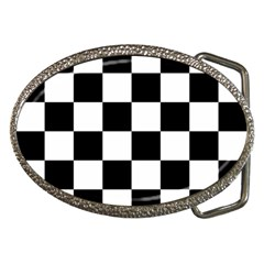 Checkered Flag Race Winner Mosaic Tile Pattern Belt Buckles by CrypticFragmentsColors