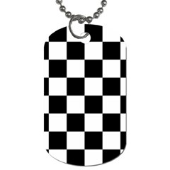 Checkered Flag Race Winner Mosaic Tile Pattern Dog Tag (one Side) by CrypticFragmentsColors