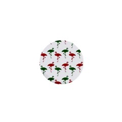 Flamingos Christmas Pattern Red Green 1  Mini Magnet by CrypticFragmentsColors
