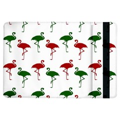 Flamingos Christmas Pattern Red Green Apple Ipad Air Flip Case by CrypticFragmentsColors