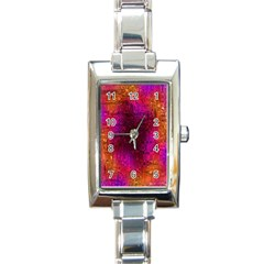 Purple Orange Pink Colorful Rectangle Italian Charm Watch by yoursparklingshop