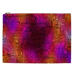 Purple Orange Pink Colorful Cosmetic Bag (xxl)  by yoursparklingshop