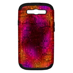 Purple Orange Pink Colorful Samsung Galaxy S Iii Hardshell Case (pc+silicone) by yoursparklingshop