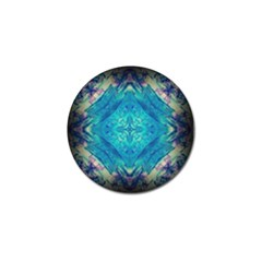 Boho Hippie Tie Dye Retro Seventies Blue Violet Golf Ball Marker (10 Pack) by CrypticFragmentsDesign