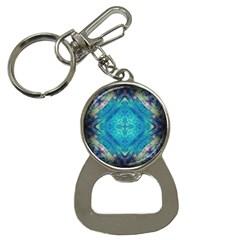 Boho Hippie Tie Dye Retro Seventies Blue Violet Bottle Opener Key Chains by CrypticFragmentsDesign