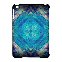 Boho Hippie Tie Dye Retro Seventies Blue Violet Apple Ipad Mini Hardshell Case (compatible With Smart Cover) by CrypticFragmentsDesign