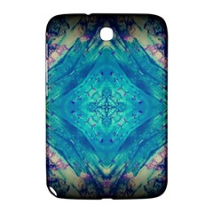 Boho Hippie Tie Dye Retro Seventies Blue Violet Samsung Galaxy Note 8 0 N5100 Hardshell Case  by CrypticFragmentsDesign