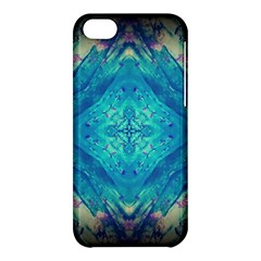 Boho Hippie Tie Dye Retro Seventies Blue Violet Apple Iphone 5c Hardshell Case by CrypticFragmentsDesign