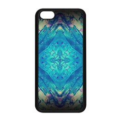 Boho Hippie Tie Dye Retro Seventies Blue Violet Apple Iphone 5c Seamless Case (black) by CrypticFragmentsDesign