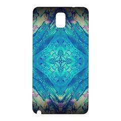 Boho Hippie Tie Dye Retro Seventies Blue Violet Samsung Galaxy Note 3 N9005 Hardshell Back Case by CrypticFragmentsDesign