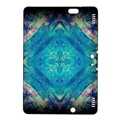 Boho Hippie Tie Dye Retro Seventies Blue Violet Kindle Fire Hdx 8 9  Hardshell Case by CrypticFragmentsDesign