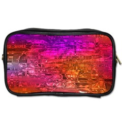 Purple Orange Pink Colorful Art Toiletries Bags 2 Side by yoursparklingshop