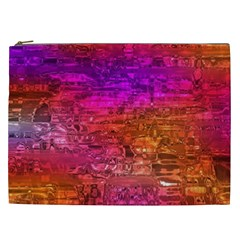 Purple Orange Pink Colorful Art Cosmetic Bag (xxl)  by yoursparklingshop