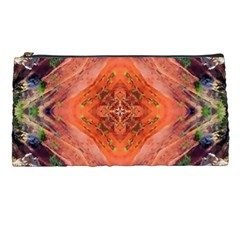 Boho Bohemian Hippie Floral Abstract Faded  Pencil Cases by CrypticFragmentsDesign