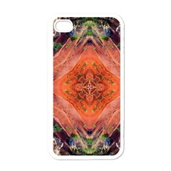 Boho Bohemian Hippie Floral Abstract Faded  Apple Iphone 4 Case (white) by CrypticFragmentsDesign