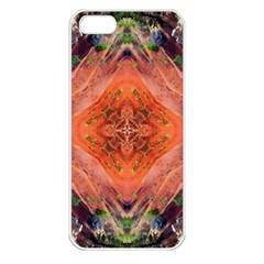 Boho Bohemian Hippie Floral Abstract Faded  Apple Iphone 5 Seamless Case (white) by CrypticFragmentsDesign