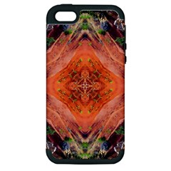 Boho Bohemian Hippie Floral Abstract Faded  Apple Iphone 5 Hardshell Case (pc+silicone) by CrypticFragmentsDesign