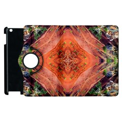 Boho Bohemian Hippie Floral Abstract Faded  Apple Ipad 2 Flip 360 Case by CrypticFragmentsDesign