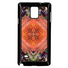 Boho Bohemian Hippie Floral Abstract Faded  Samsung Galaxy Note 4 Case (black) by CrypticFragmentsDesign