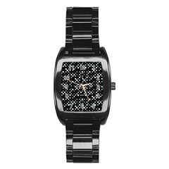 Galaxy Dots Stainless Steel Barrel Watch by dflcprints