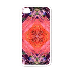 Boho Bohemian Hippie Retro Tie Dye Summer Flower Garden Design Apple Iphone 4 Case (white) by CrypticFragmentsDesign