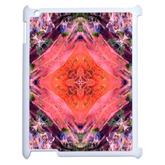 Boho Bohemian Hippie Retro Tie Dye Summer Flower Garden Design Apple Ipad 2 Case (white) by CrypticFragmentsDesign
