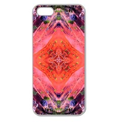 Boho Bohemian Hippie Retro Tie Dye Summer Flower Garden Design Apple Seamless Iphone 5 Case (clear) by CrypticFragmentsDesign