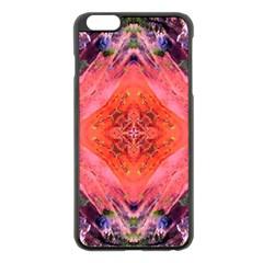 Boho Bohemian Hippie Retro Tie Dye Summer Flower Garden Design Apple Iphone 6 Plus/6s Plus Black Enamel Case by CrypticFragmentsDesign