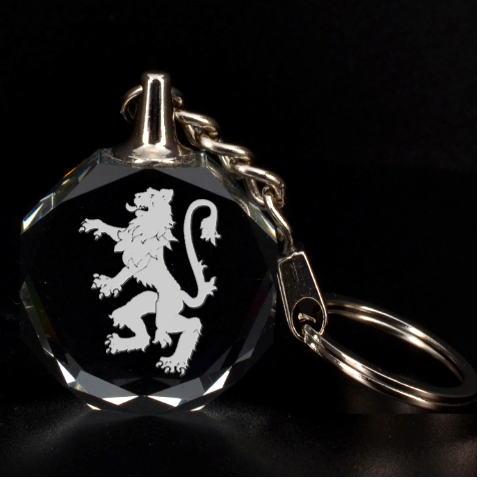 Engraved Lion Rampant Key Chain By Rd   3d Engraving Circle Key Chain   Fgorrfig0mfz   Www Artscow Com Front