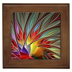Fractal Bird Of Paradise Framed Tile by WolfepawFractals