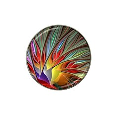Fractal Bird Of Paradise Hat Clip Ball Marker by WolfepawFractals