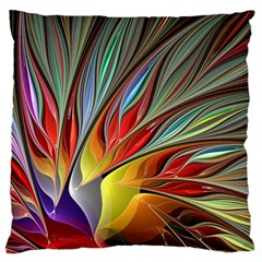 Fractal Bird Of Paradise Large Flano Cushion Case (two Sides) by WolfepawFractals