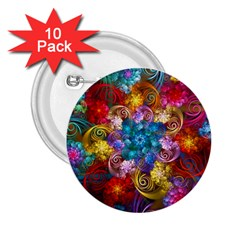 Spirals And Curlicues 2 25  Buttons (10 Pack)  by WolfepawFractals