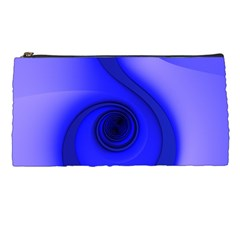 Blue Spiral Note Pencil Cases by CrypticFragmentsDesign