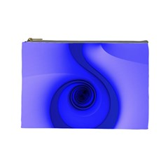 Blue Spiral Note Cosmetic Bag (large)  by CrypticFragmentsDesign