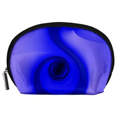 Blue Spiral Note Accessory Pouches (large)  by CrypticFragmentsDesign