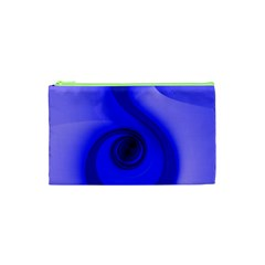 Blue Spiral Note Cosmetic Bag (xs) by CrypticFragmentsDesign