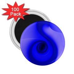 Blue Spiral Note 2 25  Magnets (100 Pack)  by CrypticFragmentsDesign