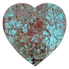 Urban Graffiti Grunge Look Jigsaw Puzzle (heart) by CrypticFragmentsDesign