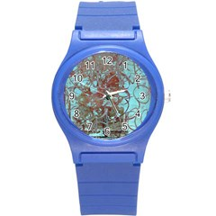 Urban Graffiti Grunge Look Round Plastic Sport Watch (s) by CrypticFragmentsDesign