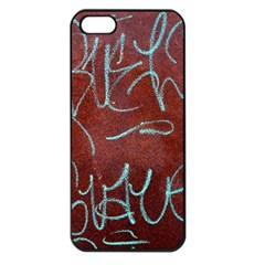 Urban Graffiti Rust Grunge Texture Background Apple Iphone 5 Seamless Case (black) by CrypticFragmentsDesign