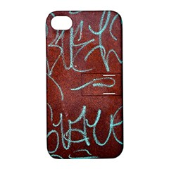 Urban Graffiti Rust Grunge Texture Background Apple Iphone 4/4s Hardshell Case With Stand by CrypticFragmentsDesign