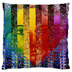 Conundrum I, Abstract Rainbow Woman Goddess  Standard Flano Cushion Case (Two Sides) by DianeClancy