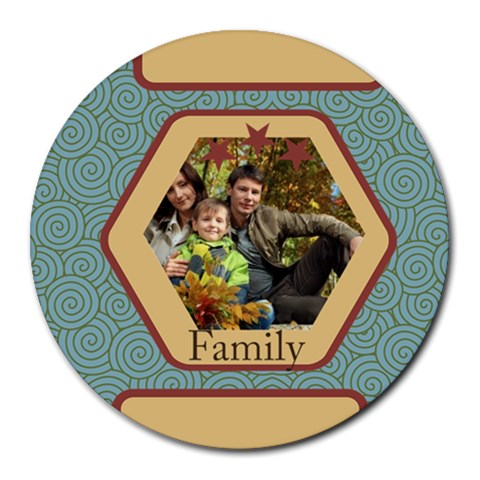 Family By Family   Round Mousepad   H0tj5ofc2pat   Www Artscow Com Front