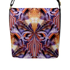 Fire Goddess Abstract Modern Digital Art  Flap Messenger Bag (l)  by CrypticFragmentsDesign