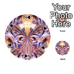 Fire Goddess Abstract Modern Digital Art  Playing Cards 54 (round)  by CrypticFragmentsDesign
